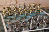 Marble chess set — Stock Photo