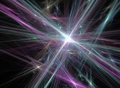 Green and violet abstract lines fractal effect light background — Foto de Stock