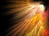 Yellow radiance bright abstract fractal effect light background — Stock Photo