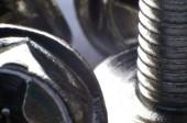 Macro detail of screws — Foto de Stock