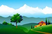 Mountain landscape — Stock Vector