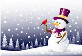 Iceman  & Christmas Bird — Stock Vector