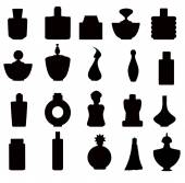 Perfume bottles Set-Vector — Stock Vector