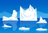 Iceberg-Vector — Stock Vector