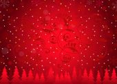 Christmas Greetings Background -Vector — Vector de stock