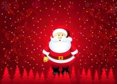 Santa & Christmas Greetings — Stockvector