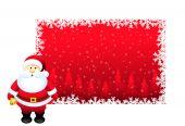 Santa with Christmas Banners — Stock Vector