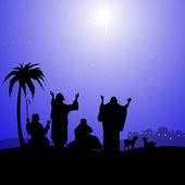 Holy Star in Bethlehem-Vector — Stock Vector