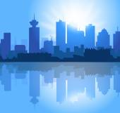 Vancouver City Skyline-Vector — Stock Vector