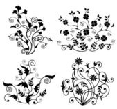 Floral Pattern Set-Vector — Stock Vector