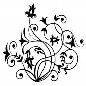 Floral Scroll Pattern -Vector — Stock Vector