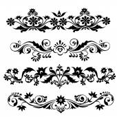 Floral patterns set -vector — Stock Vector