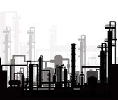 Oil & Gas Refinery — Stock Vector
