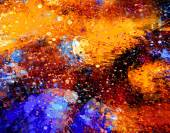 Abstract  Acrylic Splash Painting on Canvas — Stock Photo