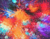 Abstract  Acrylic Splash Painting on Canvas — Stockfoto