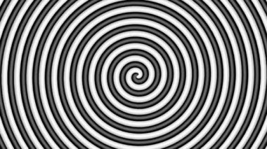 Black and white hypnotic circle — Stock Video