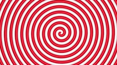 Red and white hypnotic circle — Stock Video