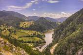 View of the lake Spaic, mountain Tara, Serbia — Stock Photo