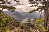 View of the lake from the mountain Tara, Serbia — Stock Photo