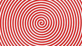 Red and white hypnotic circle — Stockfoto