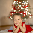 Little girl waiting for Santa Claus — Stock Photo #60850917