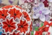 Beautiful paper flowers. Nice paper decoration, Handmade flowers — Foto Stock