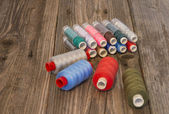Beautiful Colorful spools of thread — Stock Photo