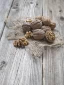 Heap of walnuts — Stock Photo