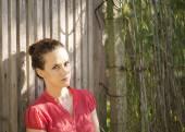 Beautiful and meditative woman — Stock Photo