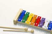 Toy xylophone isolated on white — Stock Photo