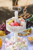 Candy bar for birthday party — Stock Photo