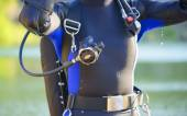 Closeup of a divers s gear — Stock Photo