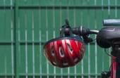 Bike helmet on an ATV — Stock Photo