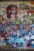 Murals in memory of John Lennon — Stock Photo