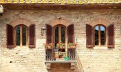 Typical house in Florence in the late Middle Ages — Stock Photo
