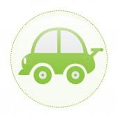 Зеленый пунктирный зеленый автомобиль круга — Cтоковый вектор