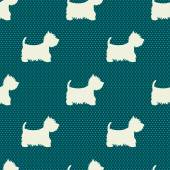Dogs pattern. — Stock Vector