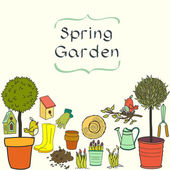 Garden doodles. — Stock Vector
