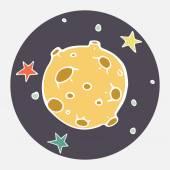 Doodle moon. — Stock Vector