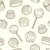 Cartoon sweets. — Stock Vector