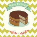 Doodle cake. — Stock Vector #53053525
