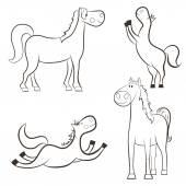 Cartoon horse. — Stock Vector