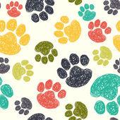 Patrón de huellas de perro. — Vector de stock