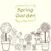 Bahçe seti. — Stok Vektör