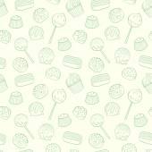 Cartoon candys pattern. — Stock Vector