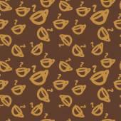 Coffee pattern. — Stock Vector