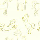 Horses pattern. — 图库矢量图片