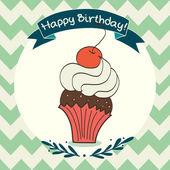 Doodle cupcake. — Stock Vector