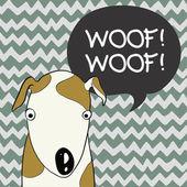 Tecknad hund. — Stockvektor
