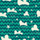 Clouds and stars pattern. — Wektor stockowy